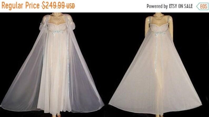 cf68cb0c4aa BIG SALE Vintage I Do Bridal Double Nylon Peignoir Nightgown