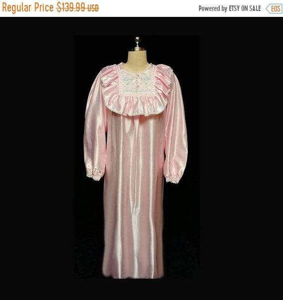 End of Summer Sale Vintage Victorian Look Pink Sat