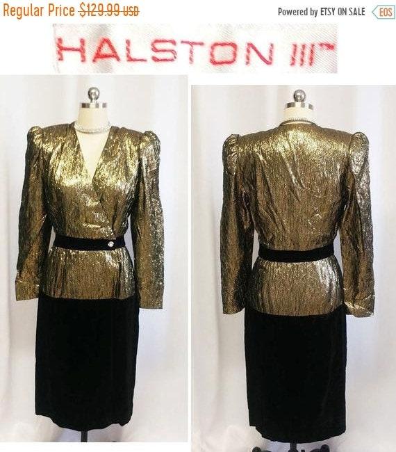 HOLIDAYSALE2020 Vintage Black Gold Sparkling Sequi