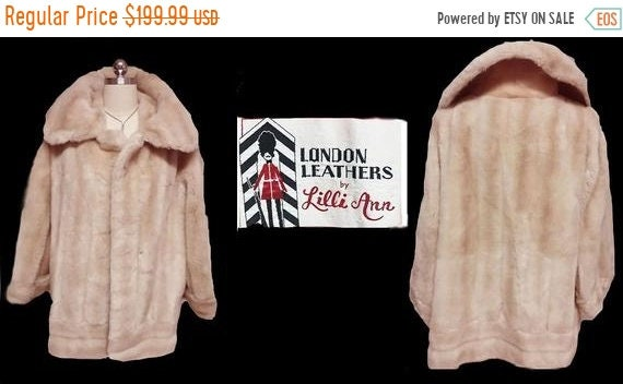 Vintage Lilli Ann Faux Fur Coat London Leathers Ja
