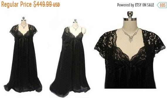 CLEARANCE SALE Vintage Donna Richard Lace & Satin