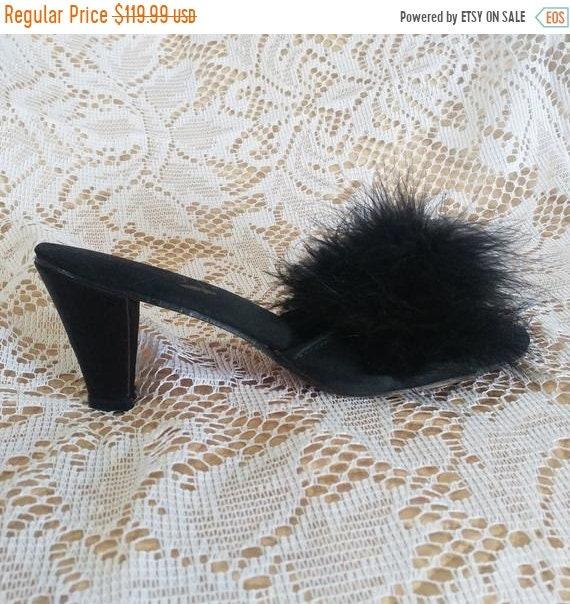 HOLIDAYSALE2020 Vintage Flirto Black Marabou High