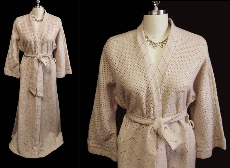 Vintage Imported Soft Sweater Robe Dressing Gown vintage robe  9c5efe34b