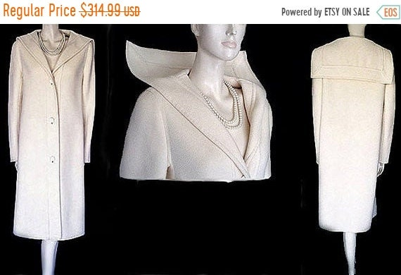 End of Summer Sale Vintage 60s Givenchy Winter Whi