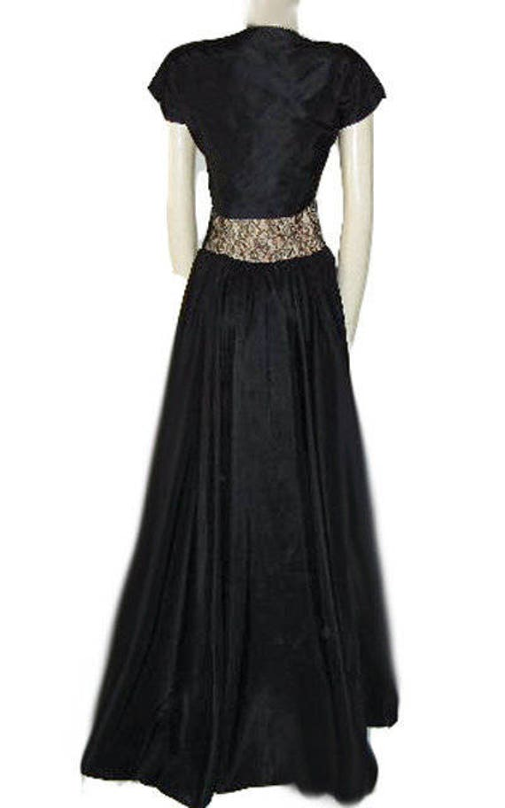 Vintage 40s Evening Gown Metal Zipper Bolero Jack… - image 8