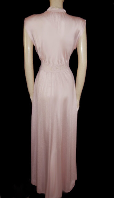 Vintage Olga Grecian Goddess Spandex Lace Nightgown Pink nightgown designer nightgown 70s gown goddess nightgown pink grecian