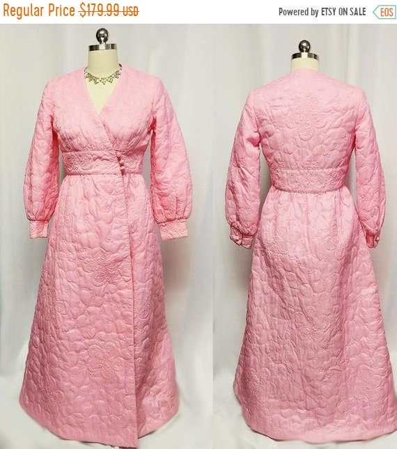 CLEARANCE SALE Vintage Switzers Quilted Pink Robe