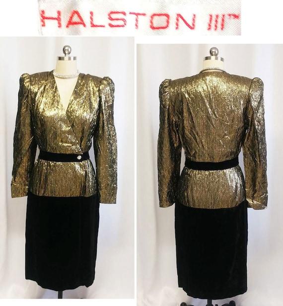 Vintage Black Gold Sparkling Sequin Beaded Evening