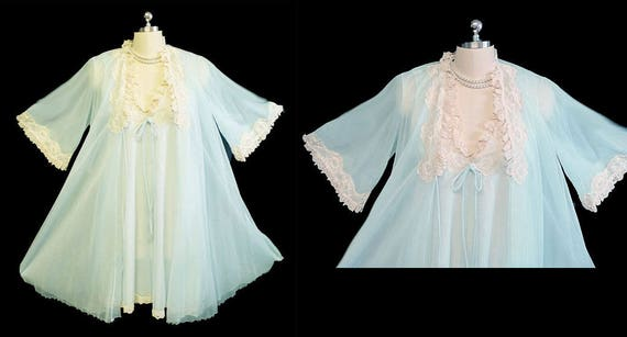 Vintage Intime of California Peignoir & Nightgown