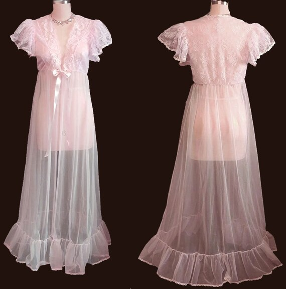 CLEARANCE SALE Vintage Tosca Sheer Bridal Peignoir