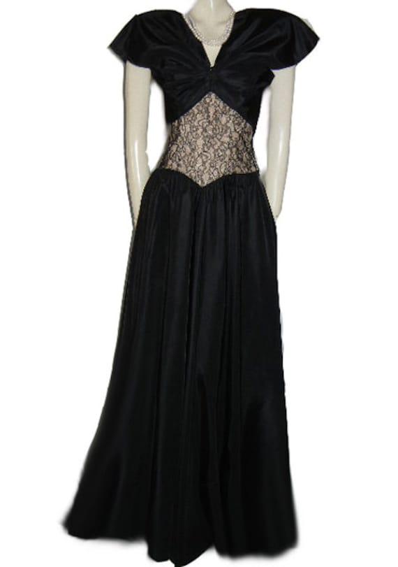 Vintage 40s Evening Gown Metal Zipper Bolero Jack… - image 3