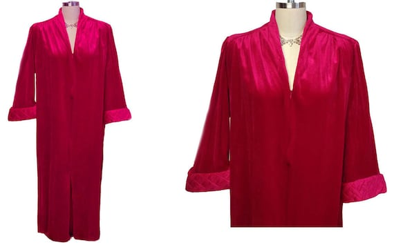 SALE Vintage Tammy Velour Robe Zip Up Robe Ravishi