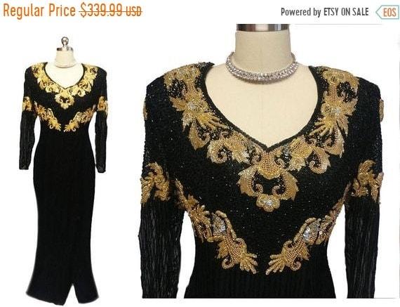 HOLIDAYSALE2020 Spectacular Vintage Black & Gold S