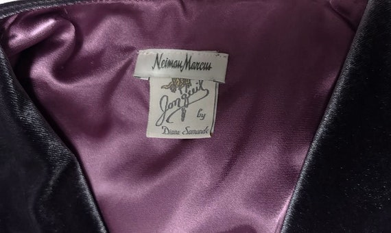 Vintage Jonquil by Diane Samandi sheer open front robe!