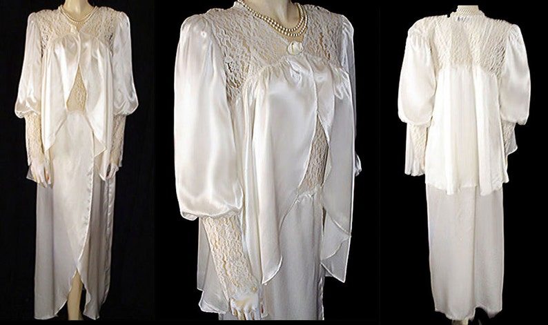 14-16 Vintage Jessica Lingerie Nightgown Large