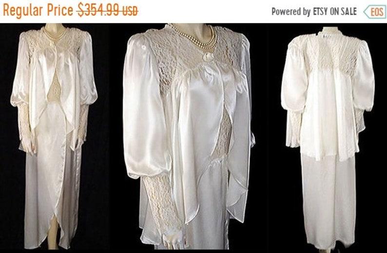 953de9ef617 BIG SALE Vintage Jessica Lynn Peignoir Nightgown Set Bridal
