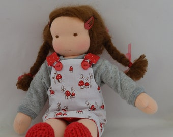 Waldorf doll with reversable dress, and nightgown, 12 Inch, 30 cm
