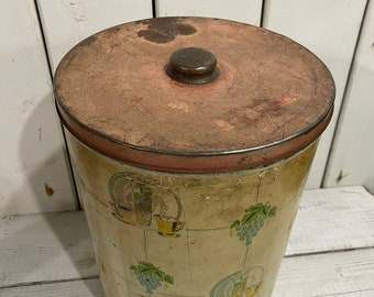 Vintage Tea Tin / Tea Canister / Country Living Style