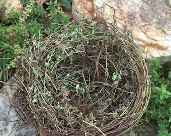 Natural Large Bird Nest / Home Garden Decor / Cottage Garden Decor / Farmhouse Style Decor / Garden