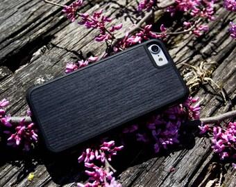 Ebony - Durable Real Wood Traveler Bumper Case - iPhone SE/6/7/8/X/Plus - Galaxy Note 8/S9/S9 Plus/S8/S8 Plus/S7/S7 edge - Pixel/XL/2/2XL