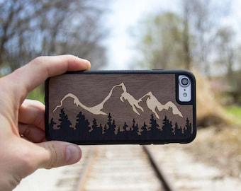 Grand Tetons - Real Wood Traveler Case - iPhone SE/6/7/8/X/Plus - Galaxy Note 8/S9/S9 Plus/S8/S8 Plus/S7/S7 edge - Pixel/XL/2/2XL