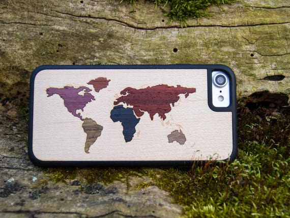World map real wood traveler case iphone se678xplus etsy image 0 gumiabroncs Images