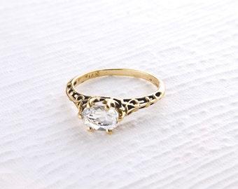 14k Gold Vintage Ring in Various Gemstones