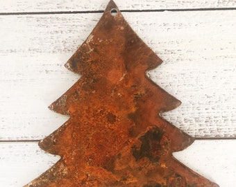 "Evergreen Tree - 6"" Rusty, Rustic Metal TREE - DIY Sign, Gift, Art!"