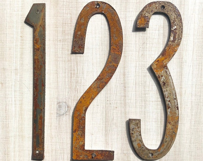 "8"" Thin Numbers - Rusty, Rusted, Rustic Metal Numbers - Make your own Sign, Gift, Art"