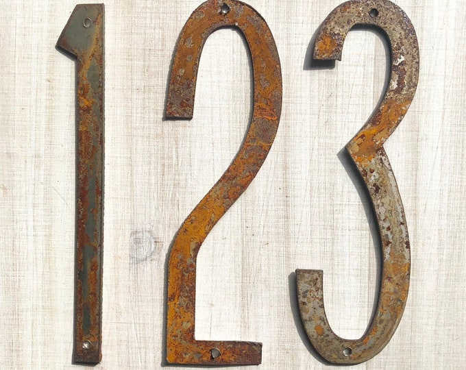 "12"" Thin Numbers - Rusty, Rusted, Rustic Metal Numbers - Make your own Sign, Gift, Art"