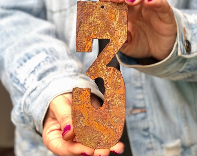 """6"""" Rusty, Rusted, Rustic Metal Numbers - Make your own Sign, Gift, Art"""