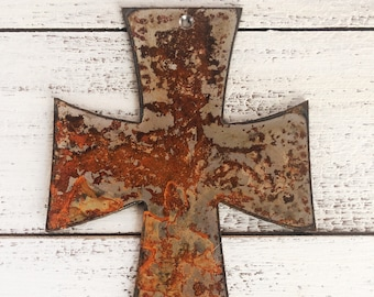 "Cross - 6"" Rusty Metal Cross - Make your own Sign, Gift, Art"