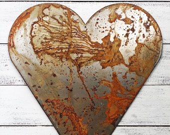 """Skinny Heart - 4"""" Rusty Metal Heart! Make your own Sign, Gift, Art"""