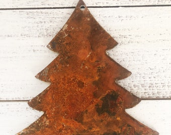 "Evergreen Tree - 4"" Rusty, Rustic Metal TREE - Make your own Sign, Gift, Art!"
