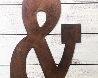 """Ampersand - 4"""" Rusty Ampersand & Symbol - Make your own Sign, Gift, Art!"""