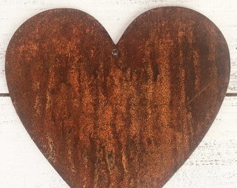 "Fat Heart - 4"" Rusty Metal Fat Heart - Make your own Sign, Gift, Art!"