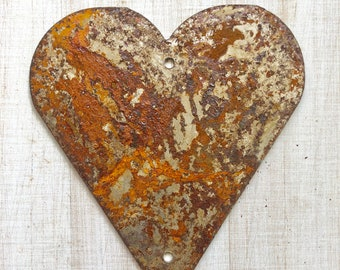 """Heart - 12"""" Large Rusty, Rustic Metal Heart - Make your own Sign, Gift, Art"""