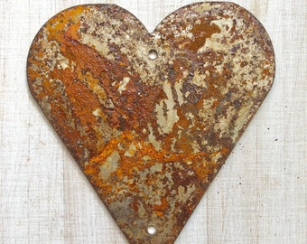 """Country Heart - 4"""" Rusty, Rustic, Rusted Metal Heart - Make your own Sign, Gift, Art"""