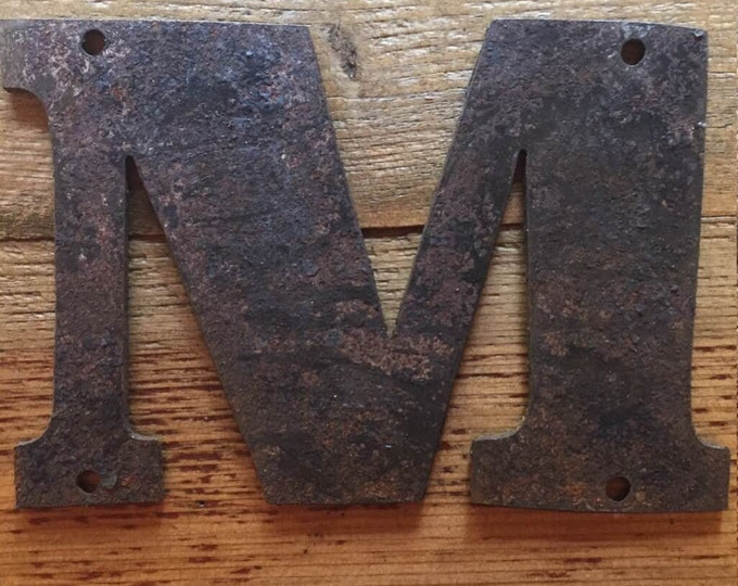 """Bold """"L"""" - 4"""" Rusty, Rusted, Rustic Metal Letter - Make your own Sign, Gift, Art"""
