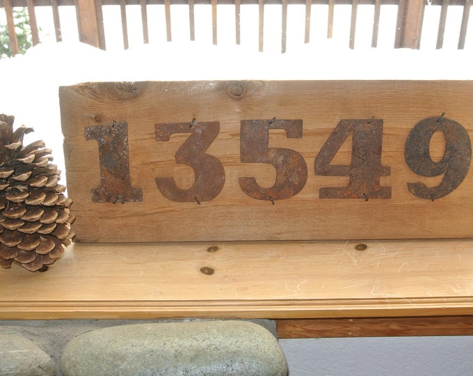 "Bold ""9"" - 4"" Rusty, Rusted, Rustic Metal Number - Make your own Sign, Gift, Art"