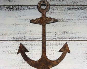 "Anchor - 6"" Rusty, Rustic Metal Anchor - Make your own Sign, Gift, Art!"