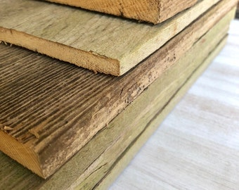 """12"""" Reclaimed, Rustic Wood Cedar Boards - Sign Blanks 12"""" long x 5-1/4"""" wide x 1/2"""" thick"""