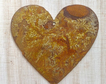 """Fat Heart - 4"""" Rusty, Rustic, Rusted Metal Heart - Make your own Sign, Gift, Art"""