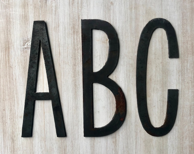 "6"" Thin Letters, Initials, Monogram - Raw Steel Metal Letters - Make your own Sign, Gift, Art!"