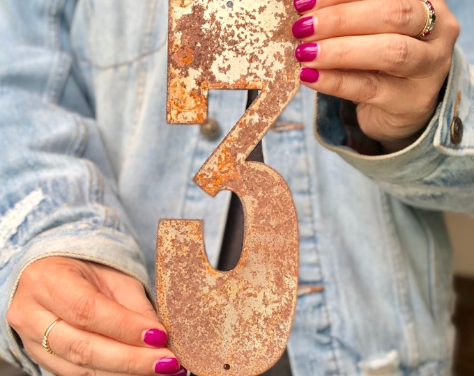 "8"" Rusty, Rusted, Rustic Metal Numbers - Make your own Sign, Gift, Art!"