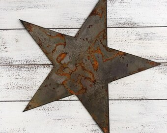 """Star - 12"""" Rusty Metal STAR! Make your own Sign, Gift, Art!"""