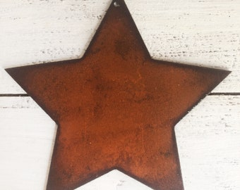 """Fat Star - 6"""" Tall Rusty, Rustic Metal Star - Make your own Sign, Gift, Art!"""