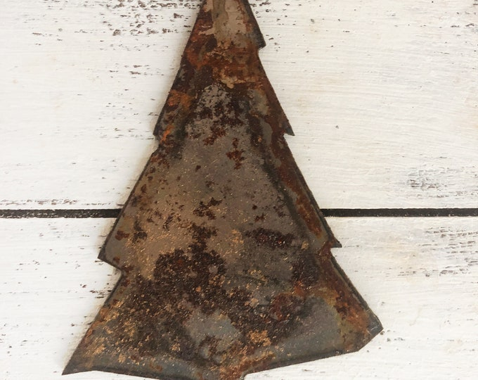 "Skinny Tree - 3"" Rusty, Rustic, Rusted Metal Tree - Make your own Sign, Gift, Art"