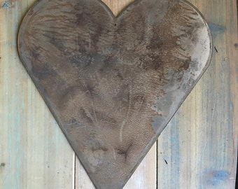 """HEART - 8"""" Rusty, Rustic Metal Heart- Make your own Sign, Gift, Art!"""