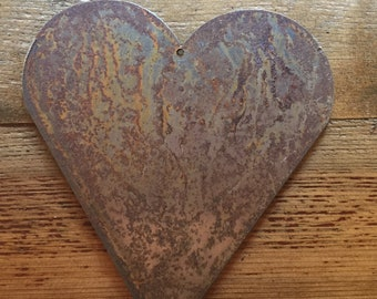 """Country Heart - 8"""" Rusty, Rustic Metal Heart- Make your own Sign, Gift, Art!"""